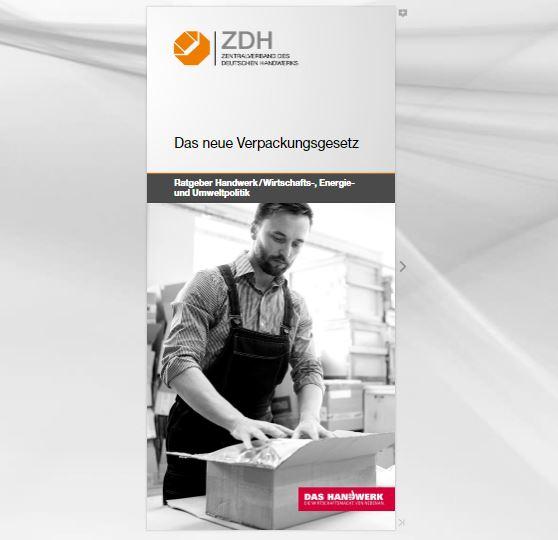 ZDH Flyer Verpackungsgesetz
