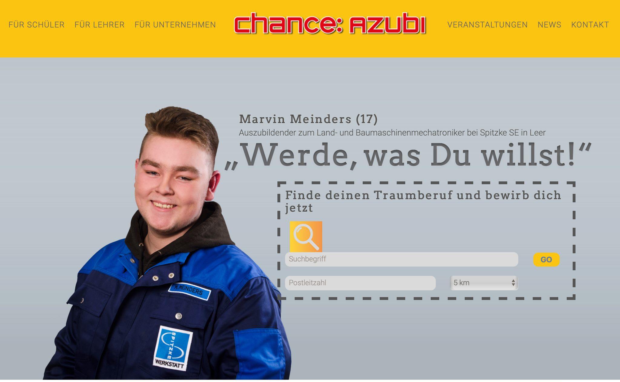 Der Verein Chance: Azubi betreibt ein Webportal zur Azubi-Suche