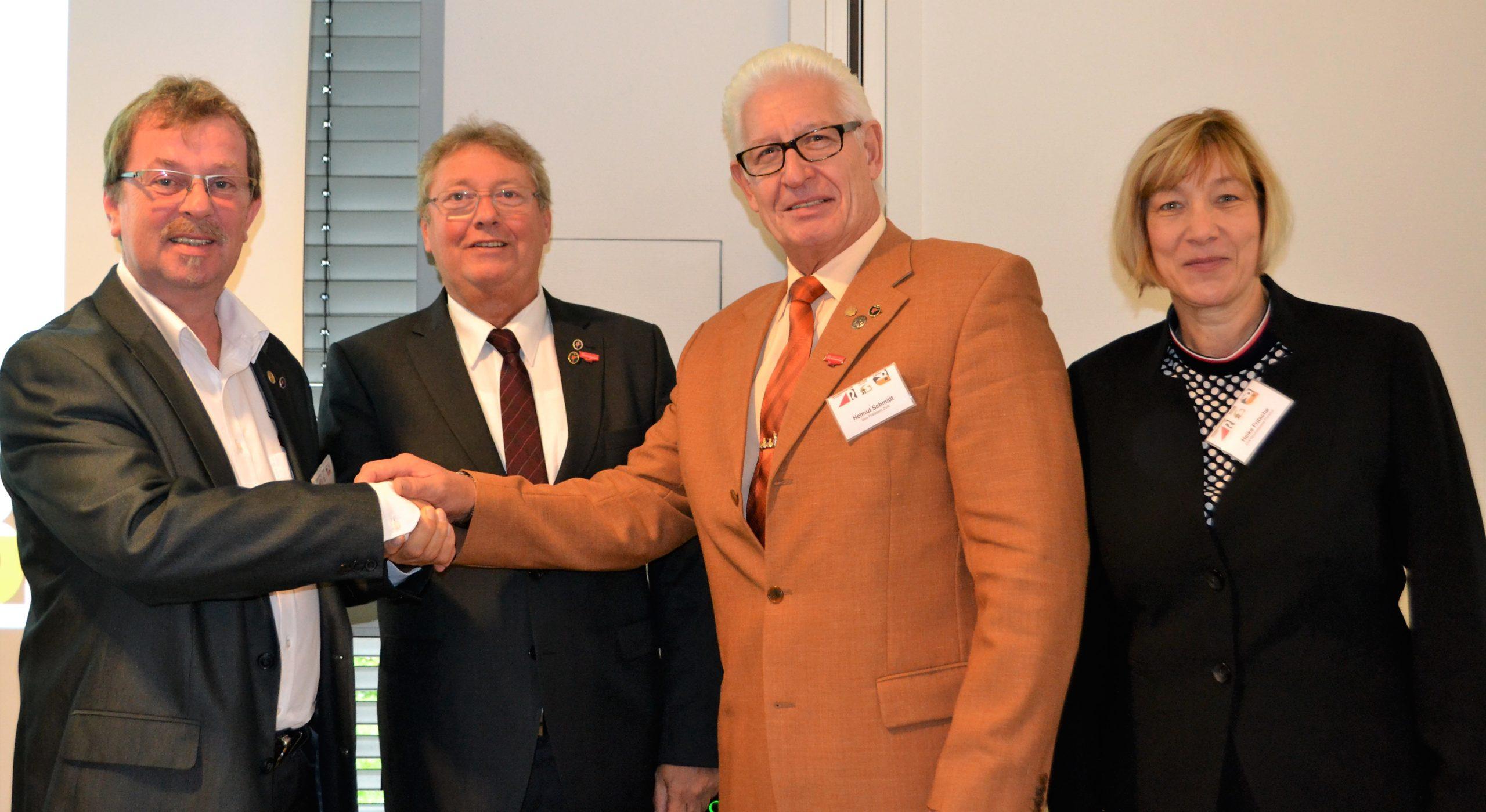Die neue Leitung des ZVR: (v.l.n.r.) Vizepräsident Peter-Hermann Todt, Präsident Harald Gerjets, Vizepräsident Helmut Schmidt und Geschäftsführerin Heike Fritsche