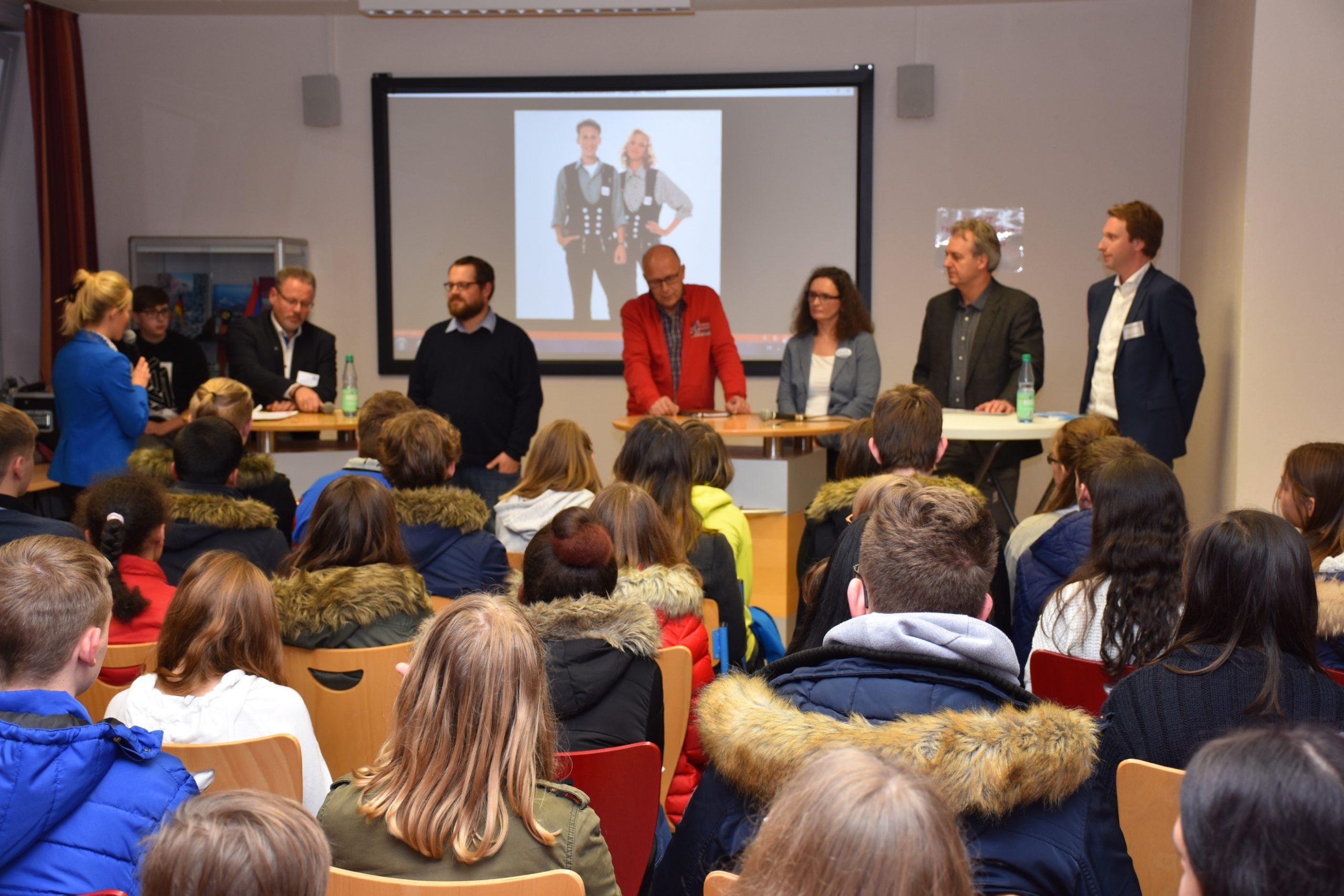 Talkshow des Vereins Chance: Azubi im Herbst 2018 in der Friesenschule Leer